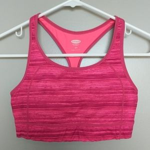Old Navy Active sports bra pink striped